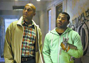 """This image released by Warner Bros. Entertainment shows Keegan-Michael Key, left, and Jordan Peele in a scene from """"Keanu."""" (Steve Dietl/Warner Bros. Entertainment via AP)"""
