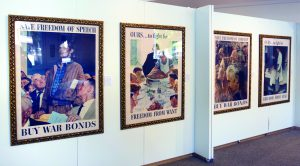 Norman Rockwell's famous Four Freedoms posters are nearly five feet tall.