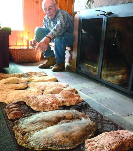 Ken Steiger of Juliaetta has a collection of plaster casts of Bigfoot's big feet, plus a cast of it's big butt (center).