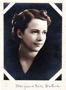 Margaret Nell Waters at age 21 upon graduation from the University of Idaho.