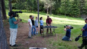 In the episode, the visiting Cosgrove family gets a lesson in firearms.