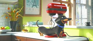 "In this image released by Universal Pictures, Buddy, voiced by Hannibal Buress, appears in a scene from, ""The Secret Lives of Pets."" (Illumination Entertainment and Universal Pictures via AP)"