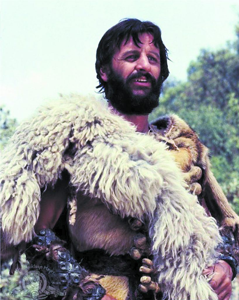 "Ringo Starr, starring in ""Caveman,"" which is best viewed on a VHS tape. (photo Metro Goldwyn Mayer)"