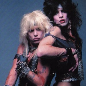 Vince Neil poses with Nikki Sixx in the 1980s during Motley Crue's heyday.
