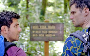 """Buddymoon"" stars David Giuntoli and Flula Borg, both longtime friends of Simmons."