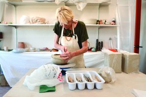 A class in ceramics will be taught at the new Artisans Barn addition at Uniontown by Debi Smith.