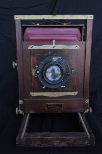 The actual camera used to take Clarkson High School yearbook photos in the early 1900s is on loan from the Asotin County Museum.