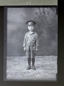 Subjects in the plate glass negatives, like this boy, are unnamed. Organizers hope the public can help identify them. (Courtesy Mike Ridinger)