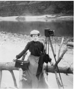 Early Lewiston photographer Daisy Evans Brown sits for a photo sometime between 1900 and 1910. (Photo Nez Perce County Historical Society)