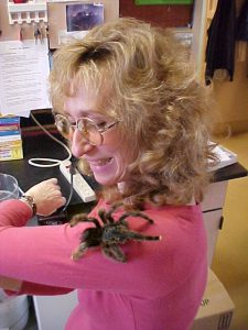 Montgomery with a pinktoe tarantula. (Photo by Sam Marshall)