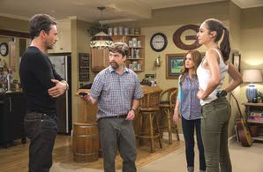 "Stars of ""Keeping Up With the Joneses"" are (from left) Jon Hamm, Zach Galifianakis, Isla Fisher and Gal Gadot."