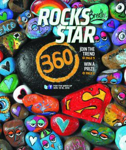 Find this 360 rock, snap a selfie, send it to our Facebook page and you could win dinner and a trip to the movies.