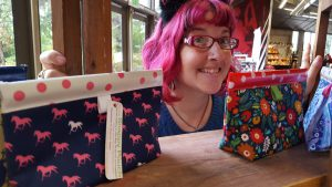 Moscow's Alicia B. Cunningham will be selling her Snappy Pouches at several fairs this season.