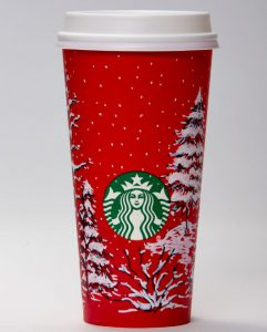 A UI freshman's design was one of 13 chosen for the companies 2016 holiday cups.