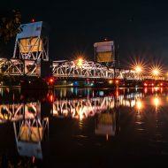 Blue Bridge at Night