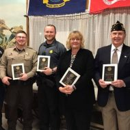 Residents honored for service to Lewiston community at Legion banquet