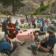 Seeking adventure and intimacy, fans are following their favorite bands to Idaho's wild waters