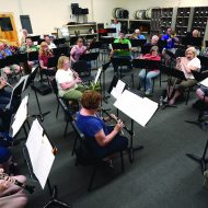 Community band sounds the notes of freedom for music lovers