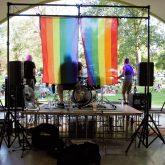 Redheaded Stepchild Band preforms at Celebrate Love