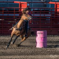 Determined to qualify for her first Lewiston Roundup