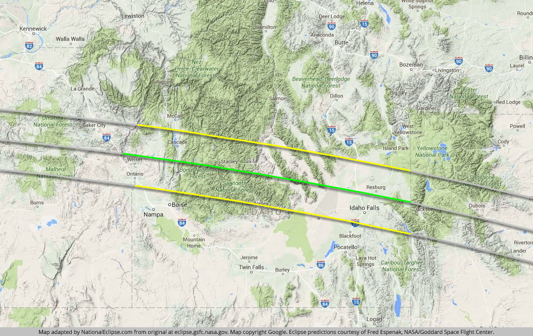 Oregon Eclipse Map 2017.What You Should Know About The Total Solar Eclipse Whether You Plan