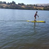 Pedal or paddle? Inland360 reporters give leg-powered paddle board a whirl