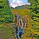 Myrtle Falls, Mt. Rainier National Park