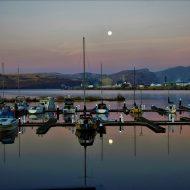 Sunrise Moon and Reflection