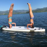 Girls on a paddle board
