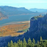 View of the Columbia River Gorge